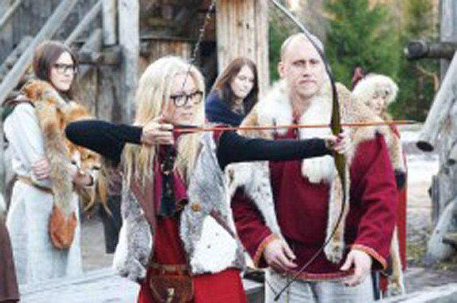 viikingite küla vibulaskmine