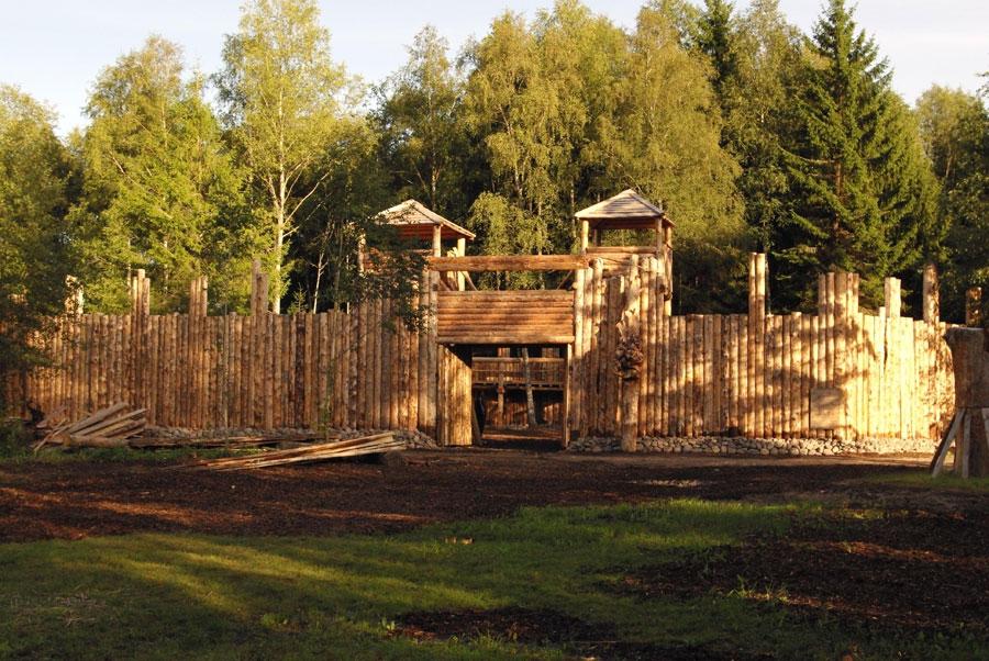 viikingite küla linnus